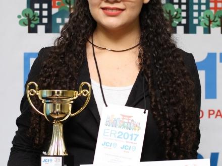 JCI Medianeira - Representante da JCI Medianeira é campeã regional de Oratória nas Escolas